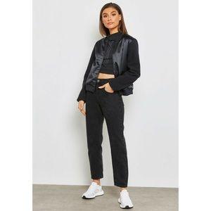 Adidas sherpa bomber jacket black